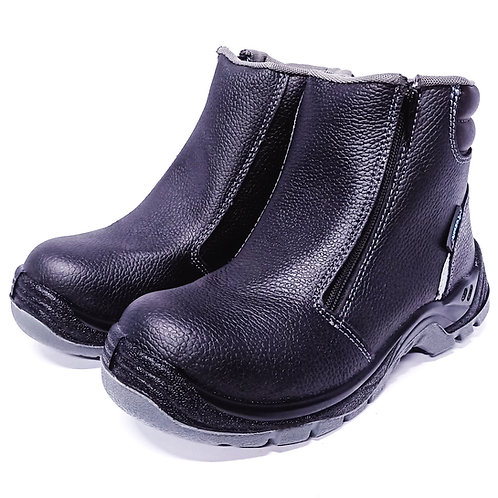 AcesafeT Bash (19606) Mid Cut Zipper Composite Toe-Cap Anti-Perforation Board Metal-Free Safety Boots (Front)