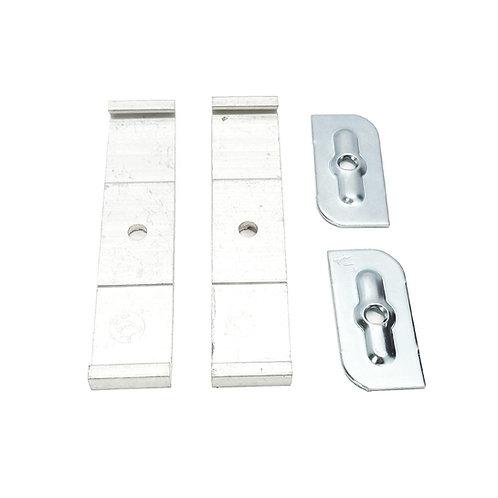 7527 Aluminium Curtain Track Ceiling Double Bracket (PAIR)