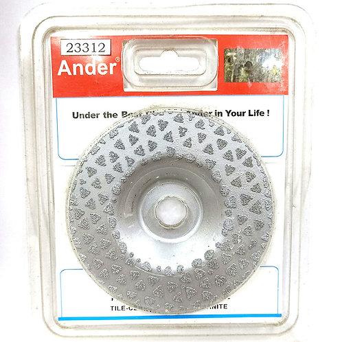 Ander 23312 4'' Diamond Blade Wheel (Silver)