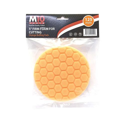 "M10 5"" Firm Foam Orange Buffing Pad (Cutting)"