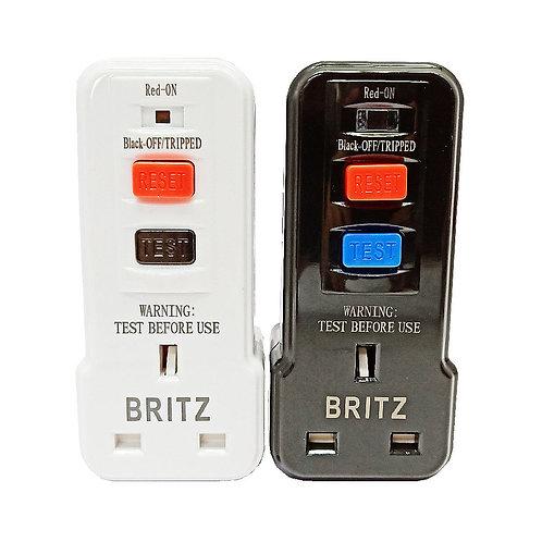 BRITZ RCD08 Safety RCD Adaptor (ELCB) W/B