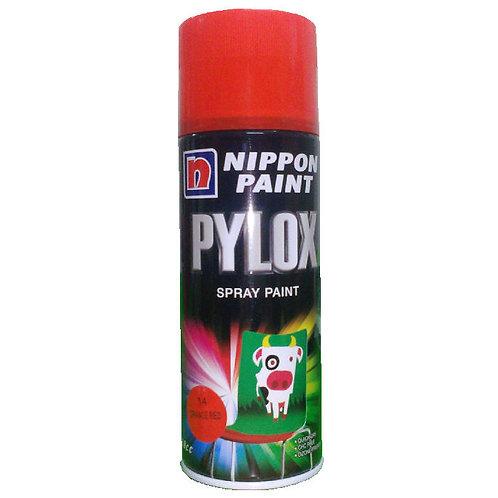 Nippon Paint Pylox Spray Paint 14 Orange Red 400CC