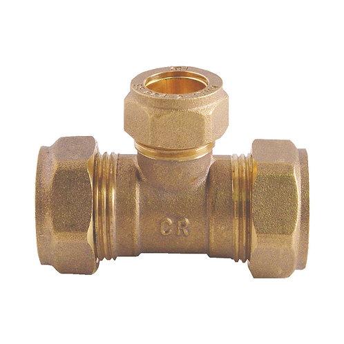 5042 22x22x22mm Brass CxCxC Tee