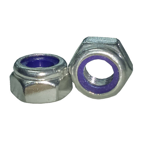 Hex Lock Nut M8 SS A2-304 Nylon Insert