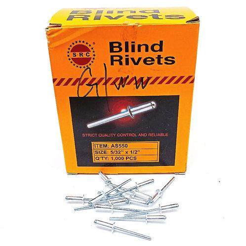 S.R.C 5/32''x1/2'' Alum Blind Rivets AS550