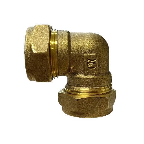5022 22x22mm Brass CxC Elbow