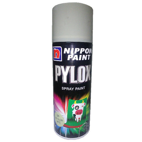 Nippon Paint Pylox Spray Paint 36 Matt Yellow White 400CC