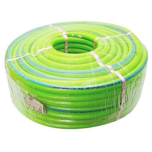 "5/8"" 15*19MM (50M) Light Green PVC Garden Braided Hose"