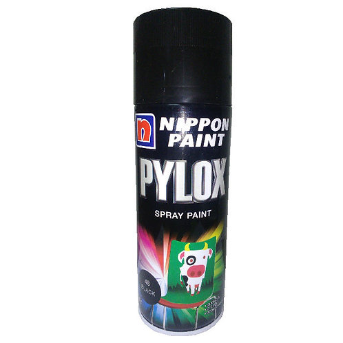 Nippon Paint Pylox Spray Paint 48 Black 400CC