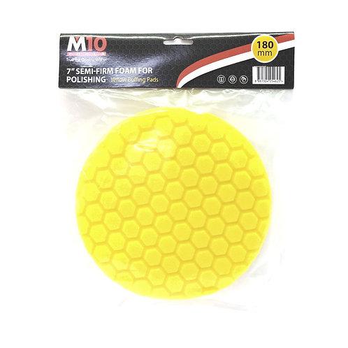 "M10 7"" Semi-Firm Foam Yellow Buffing Pad (Polishing)"
