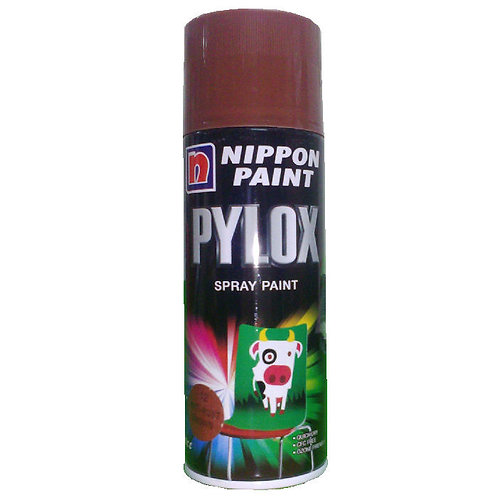 Nippon Paint Pylox Spray Paint 12 Anti-Rust Brown 400CC
