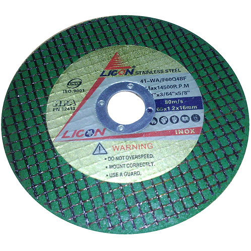 Licon Stainless Steel Cutting Disc 41-WA F60Q4BF 4'' Green 105x1.2x16mm