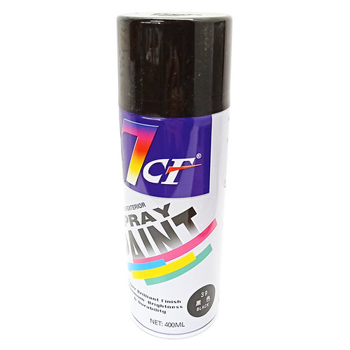 7CF 39 Black Spray Paint 400ml