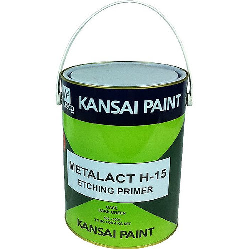 Kansai Paint Metalact H-15 Etching Primer Base Dark Green 3.2Kg for 4Kg