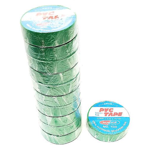 Hunter 100 Green Insulating Tape 18mmx10Yds