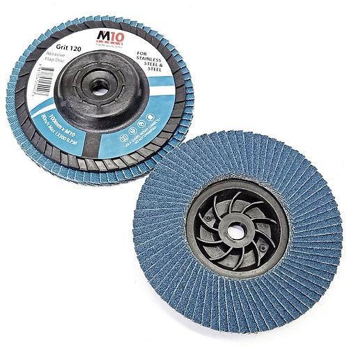 M10 HD #120 100MMxM10 Abrasive Flap Disc SS