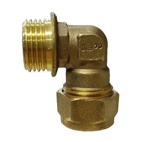 5026 15mm 1/2'' Brass CxMl Elbow