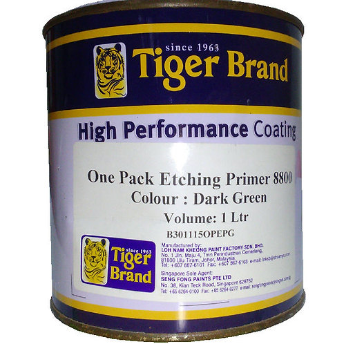 Tiger Brand High Performance Coating One Pack Etching Primer 8800 Dark Green 1L