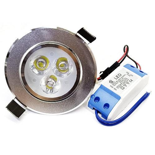 Aluminium Holder White 3W LED Eye Ball Series
