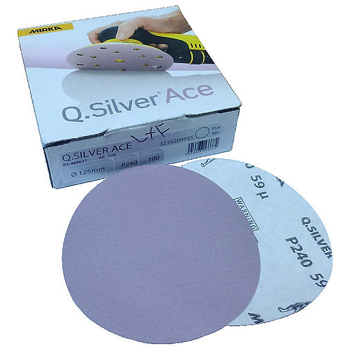 "Mirka Q.Silver Ace 5"" (125mm) PSA P240 100PCS (Box)"