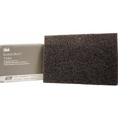 "3M Scotch-Brite 7446 Grey Blending Hand Pad 6""x9"""
