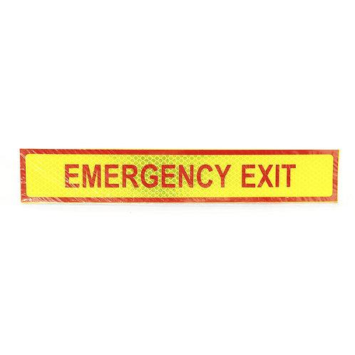 "2""x12"" Emergency Exit Label"