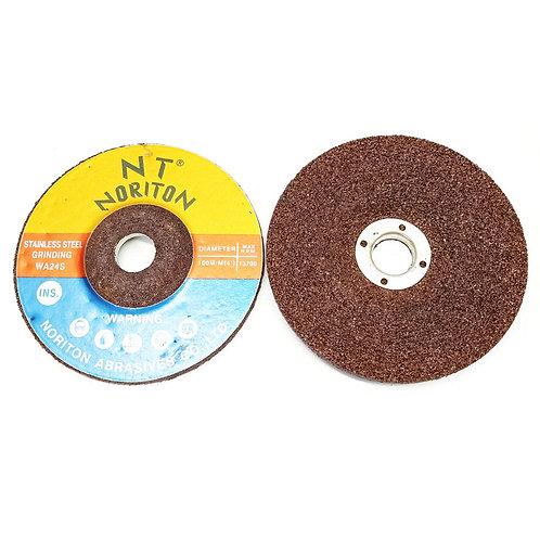 """N T Noriton 4"""" 100X6X16 SS Grinding Disc WA24"""