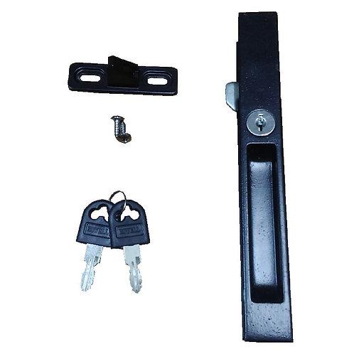 A6 Sliding Door Lock 25MM -BK C/W BK Screw & Key