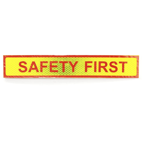 """2""""x12"""" Safety First Label"""