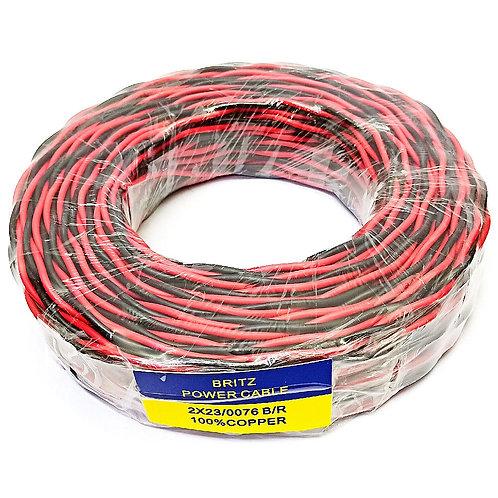 BRITZ 2X23 076 Black & Red Twisted