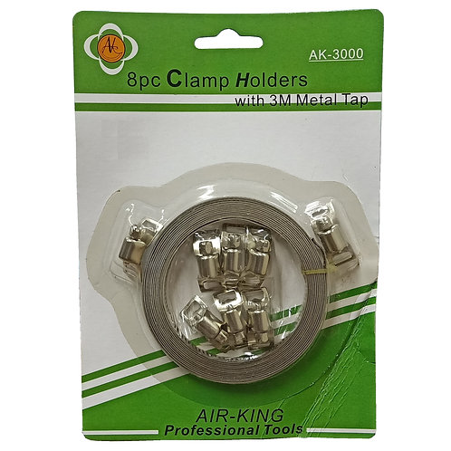 AIR-KING AK-3000 8pc Clamp Holders with 3M Metal Tap