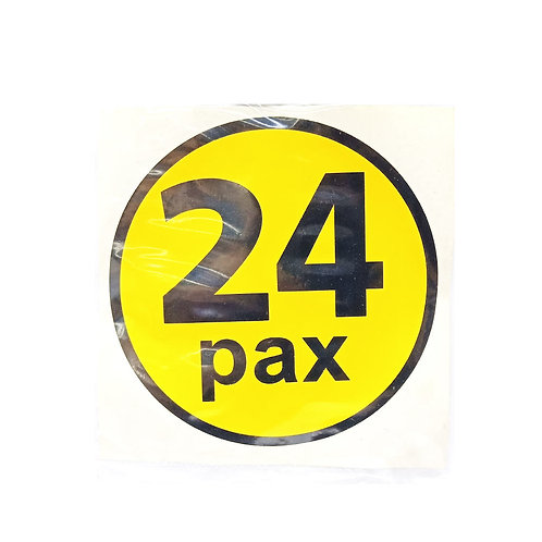 Pax Label 24 Pax