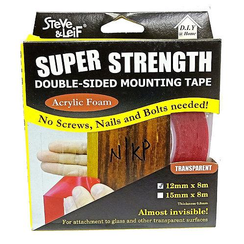 Steve & Leif Double-Sided Acrylic Foam Clear Tape 4488 12mmx8m