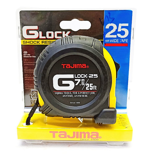 Tajima GLock 7.5m 25FT 25mm Wide Measuring Tape