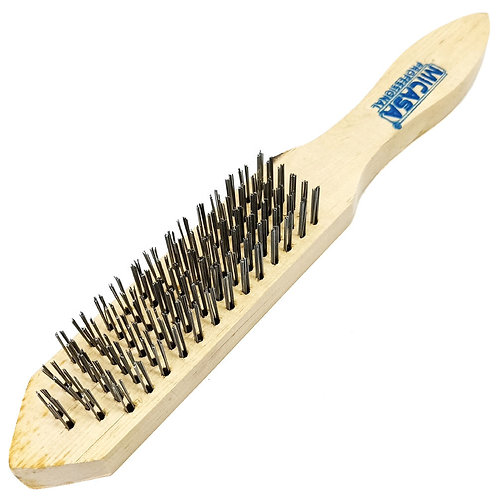 Steel Wire Brush 6 Rows (Wooden Handle) 15462