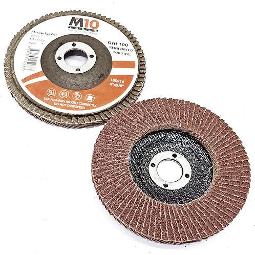 M10 Steel #100 100MMx16 Abrasive Flap Disc