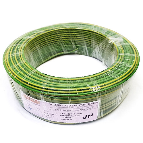 Green & Yellow 1.5MMx100M Cable