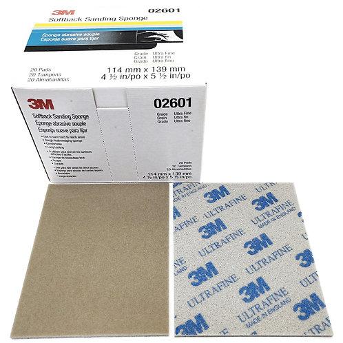 """3M 02601 Softback Sanding Sponge 4-1/2""""x5-1/2"""" Ultrafine"""