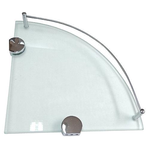 2652-422 10''x8mm Sandblast Corner Glass Shelf
