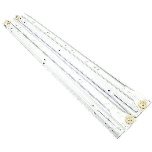 """22"""" #604 White Drawer Slide"""