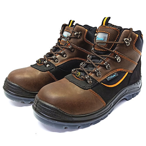 AcesafeT Mammoth (17086) Mid Cut Lace Up Composite Toe-Cap Anti-Perforation Board ESD Safety Boots (Front)