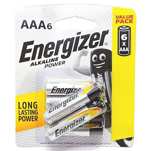 6xAAA Energizer Alkaline Batteries