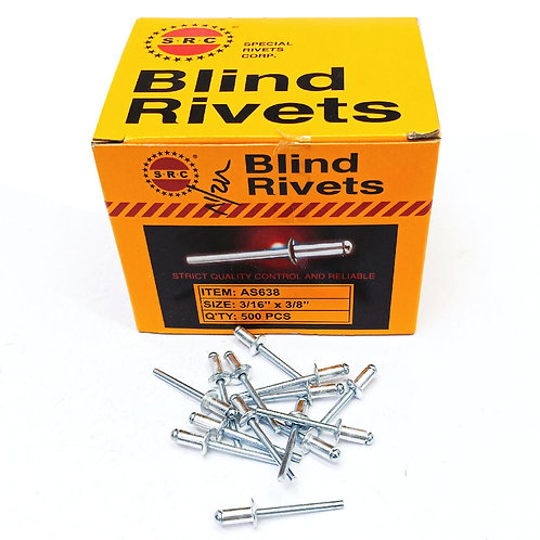S.R.C 3/16''x3/8'' Alum Blind Rivets AS638