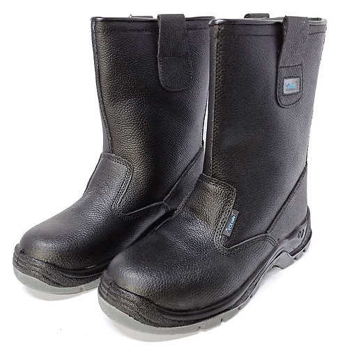 AcesafeT Bull (16202) High Cut Pull Up Steel Toe-Cap & Steel Midsole Safety Boots (Front)