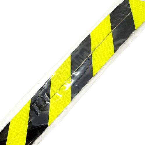 "1""x36"" Black on Yellow Reflective 2PCS"