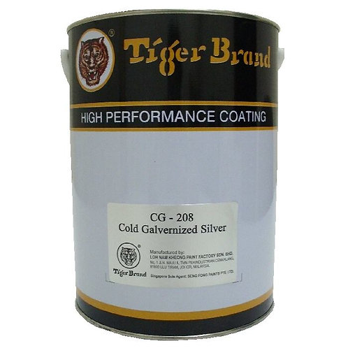 Tiger Brand High Performance Coating CG-208 Cold Galvernized Silver 5L