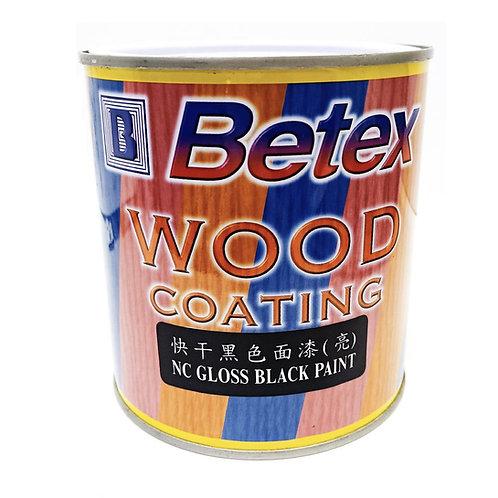 Betex Wood Coating NC Gloss Black Paint 1L