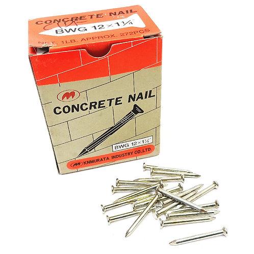 M BWG 12x1-1/4'' Concrete Nail Net. 1LB