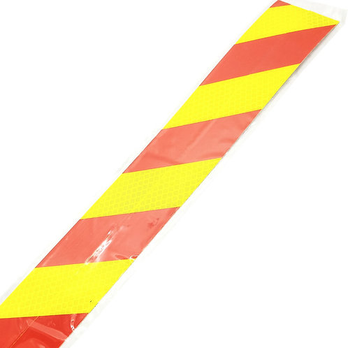 """1""""x36"""" Red on Yellow Reflective 2PCS"""