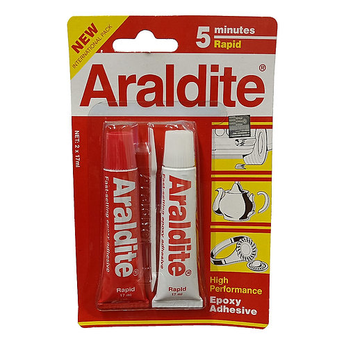 Araldite 5 Minutes Rapid Epoxy Adhesive 2x17ml